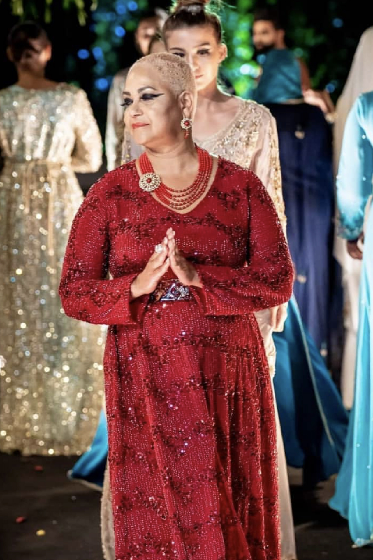 Rode jurk pailletjes