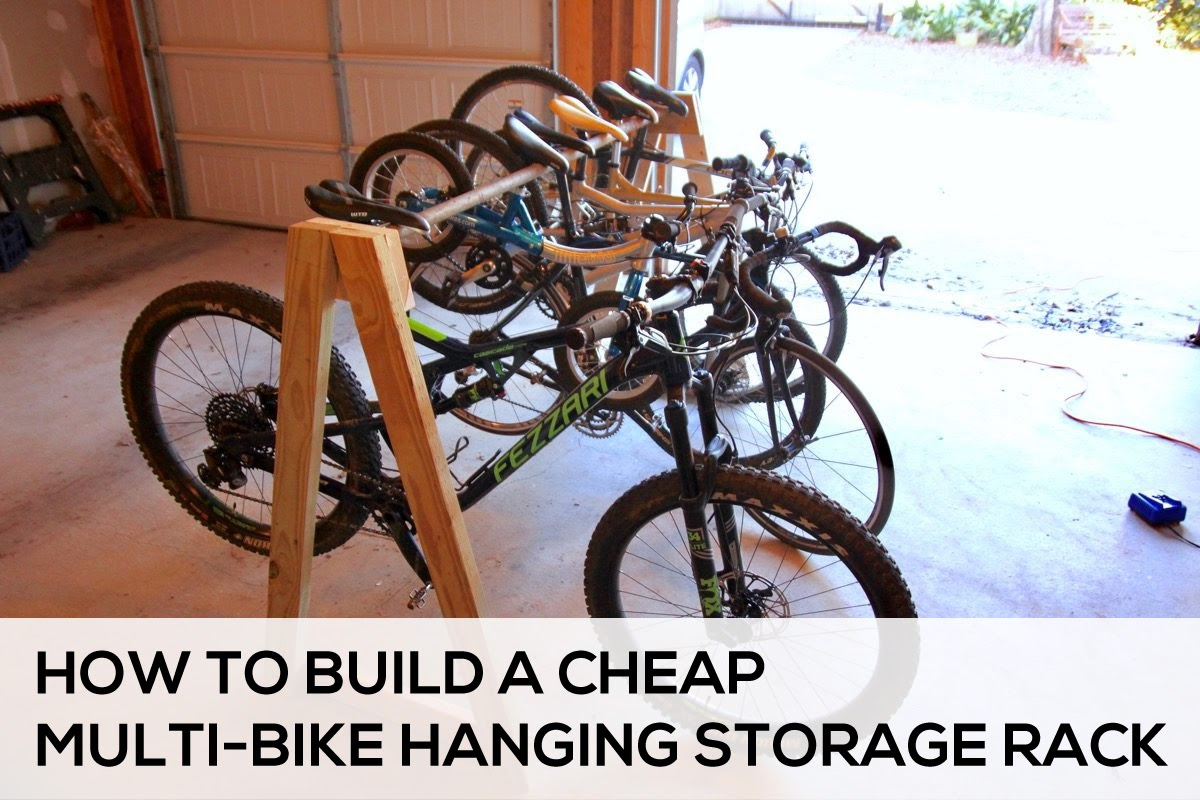How to Easily Build a Cheap Multi-Bike Hanging Storage Rack ...