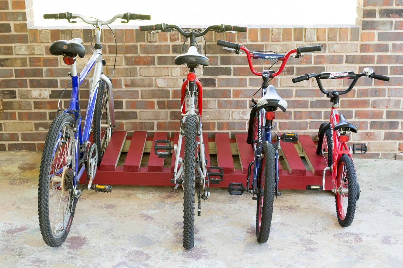 Build an Inexpensive Bike Rack | DIY Network Blog: Made + Remade | DIY