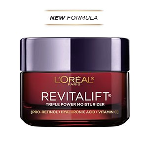 L'Oreal Paris Anti-Aging Face Moisturizer Skin Care Revitalift Triple Power