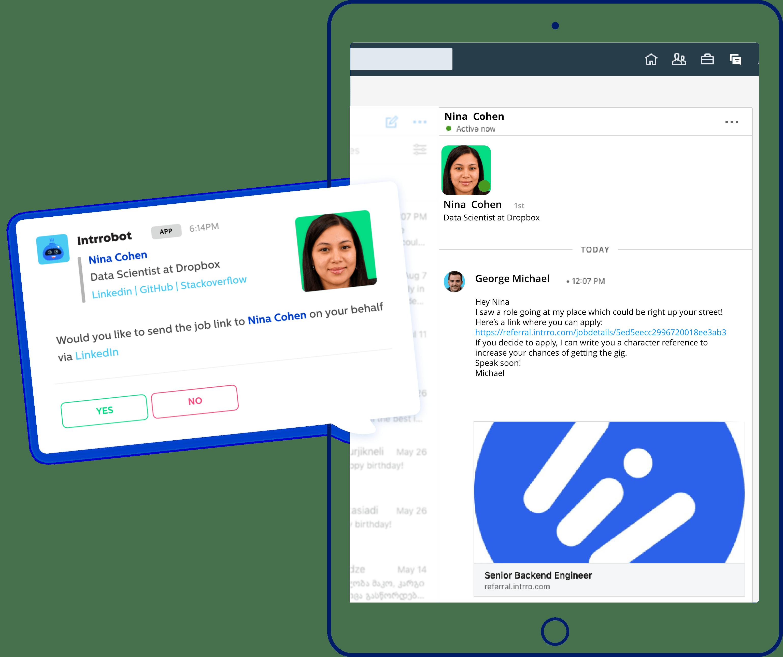 Intrro LinkedIn Screenshot