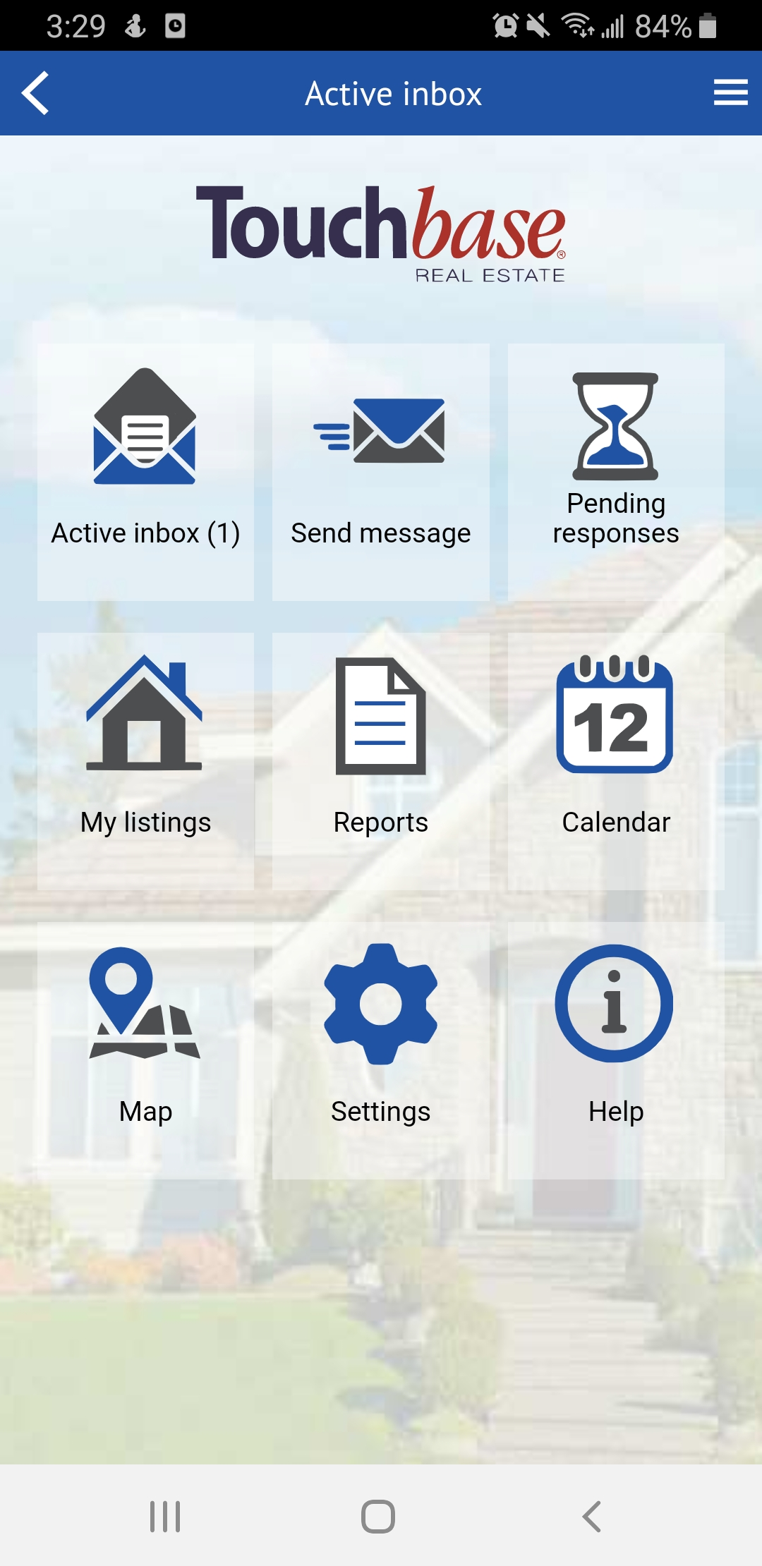 Touchbase real estate mobile app