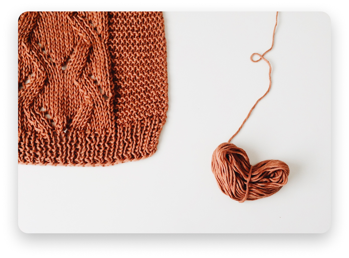Brown kniting