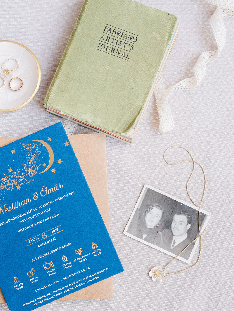 Wedding Details Flat Lay
