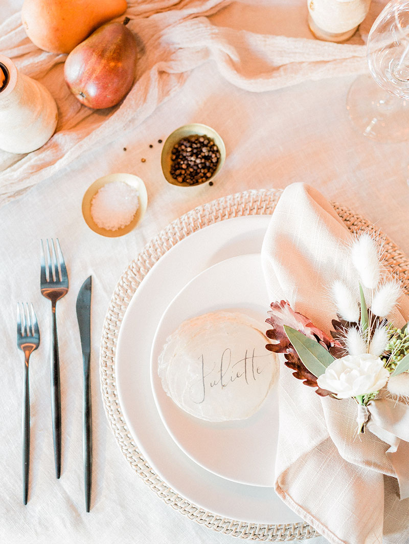 Quebec City Wedding Table Setup