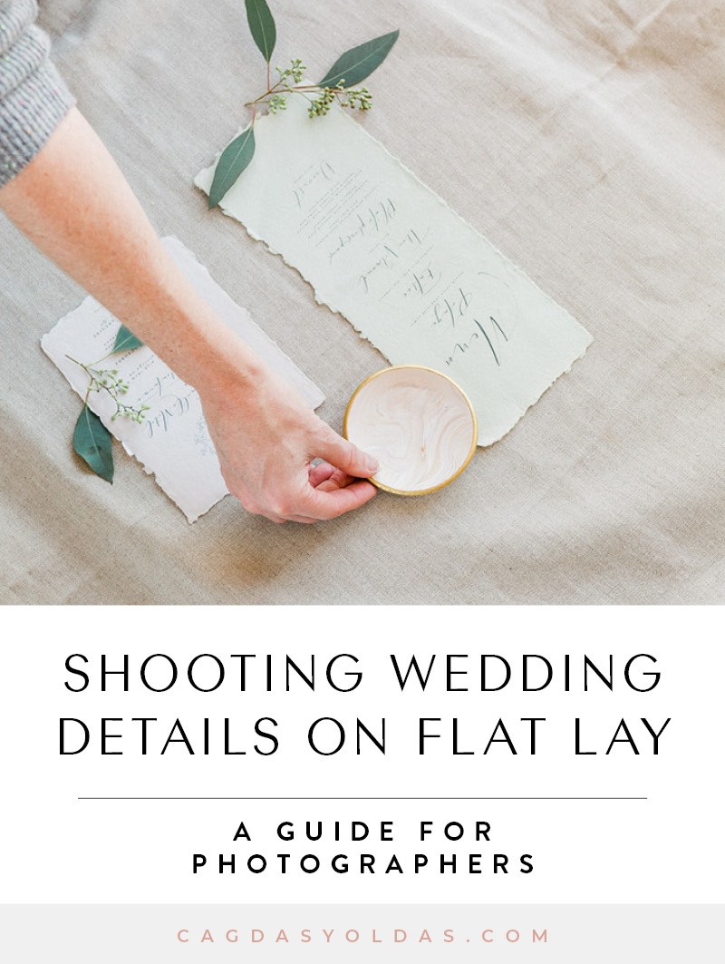 Shooting Wedding Details on Flat Lay by Cagdas Yoldas
