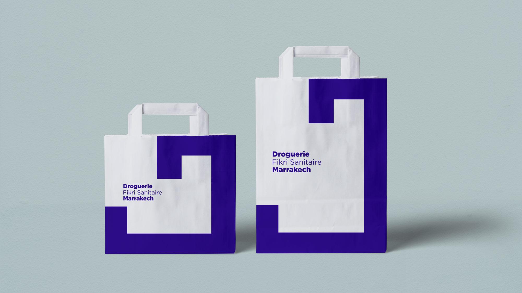 Droguerie Fikri Sanitaire Marrakech shopping bags