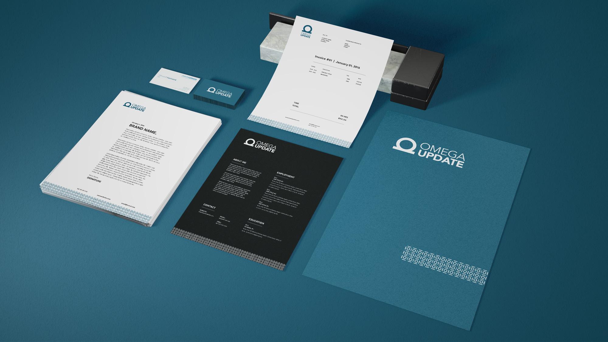 Omega Update stationery