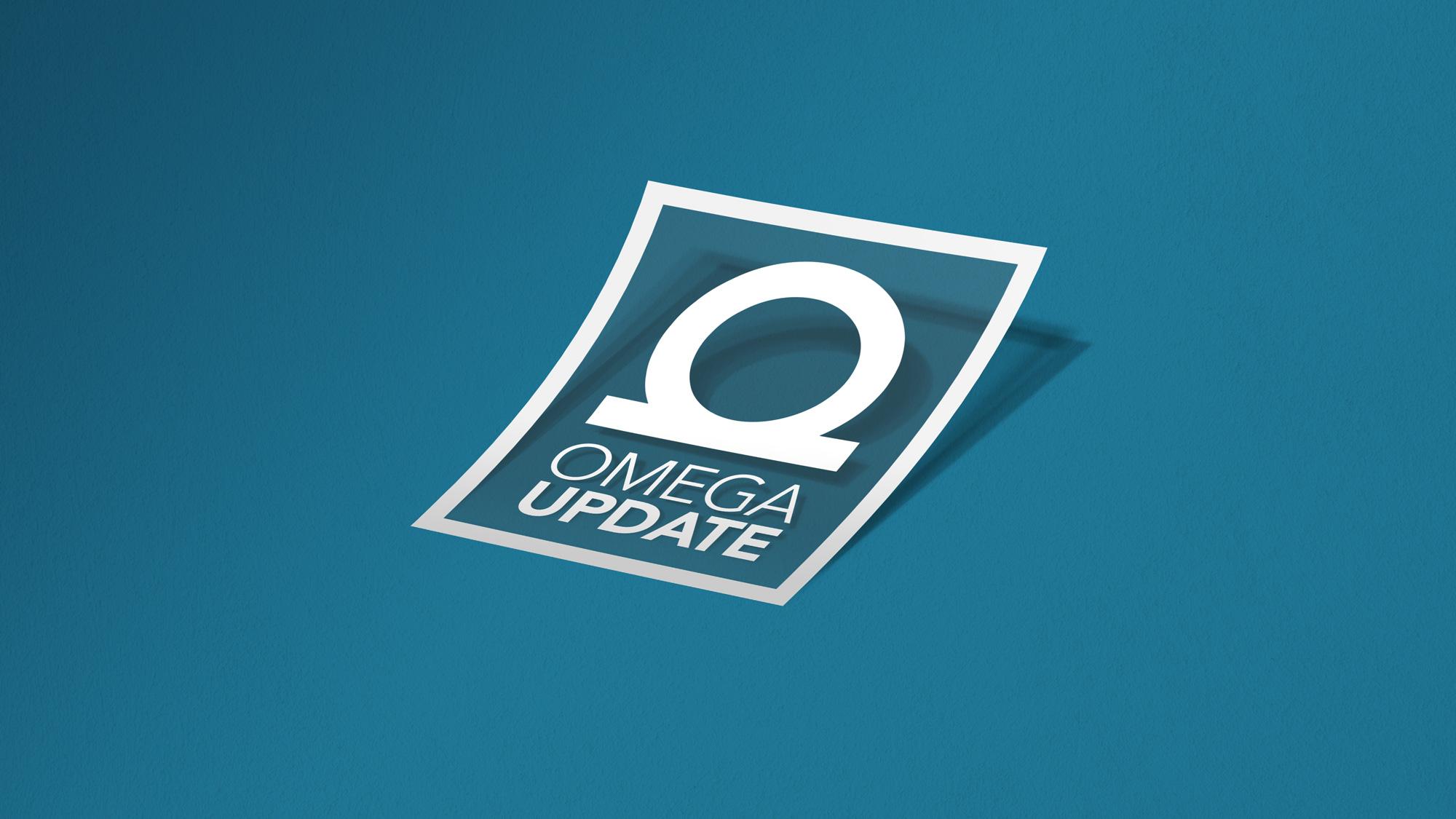 Omega Update logo as a sticker