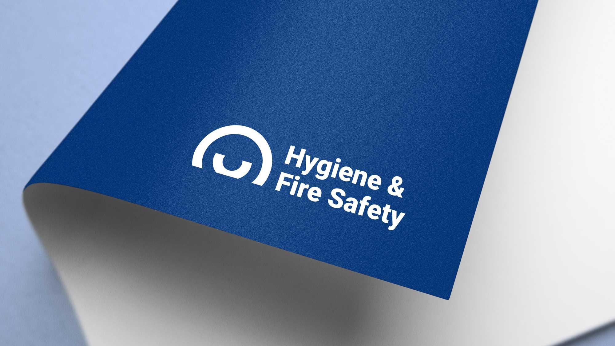 Hygiene & Fire Safety logo on paper