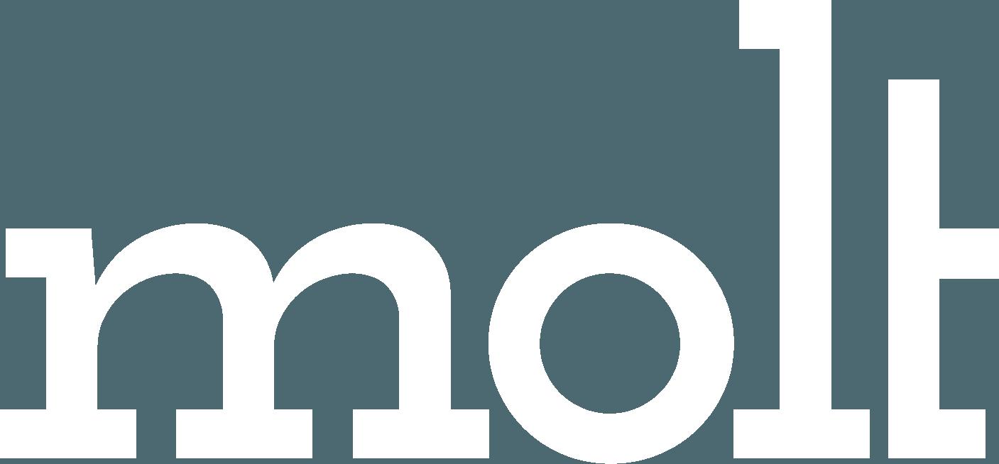 molt's logo white