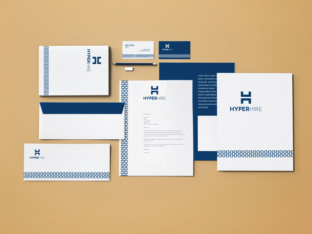 HyperHire stationery