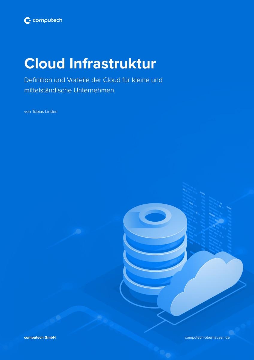 "EBook Ratgeber Cover zum Thema ""Cloud Infrastruktur"""
