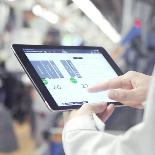 Audi DPA – Digital planning assistant on tablet