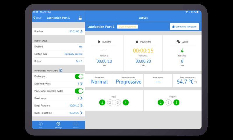 SABO – SKF LubSet screenshot