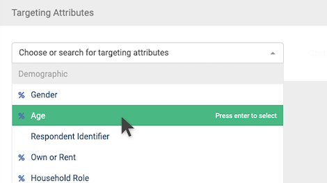 Panel Targeting Attributes