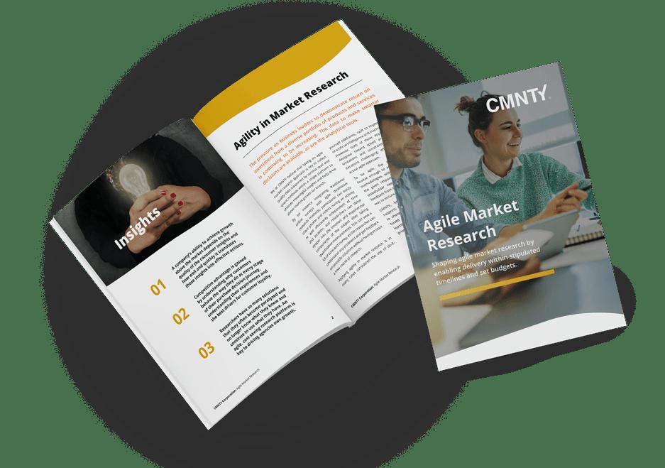 Agile market research white paper brochure mockup