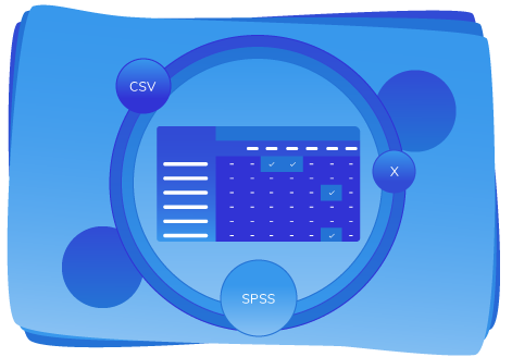 Export completion matrix data in CSV, Excel and SPSS format