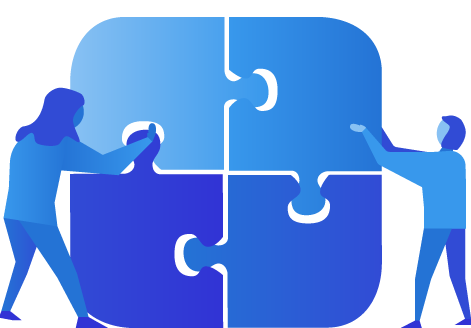 Two market researchers building the platform structure