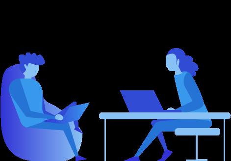 Designer and Developer working on a branded platform