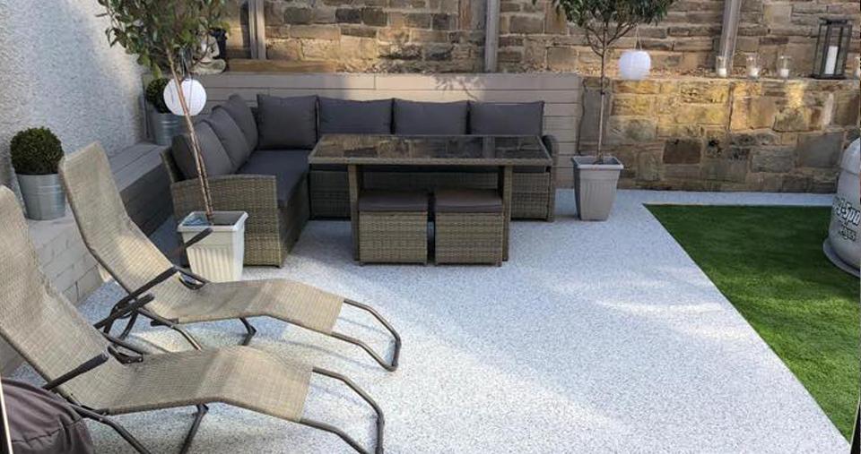 premium resin patio for back garden