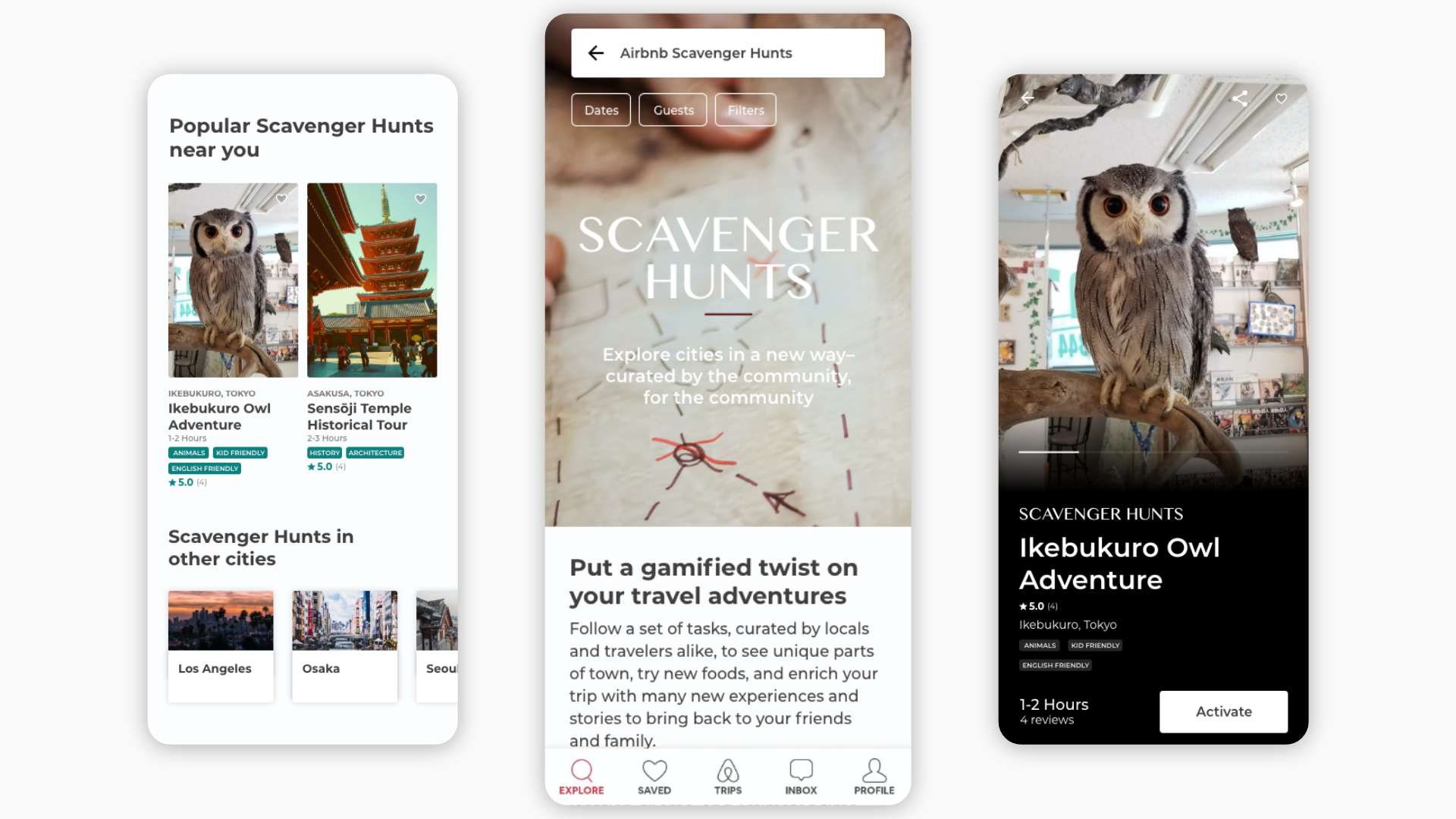 """Scavenger Hunts"", a feature addition to Airbnb's Experiences"