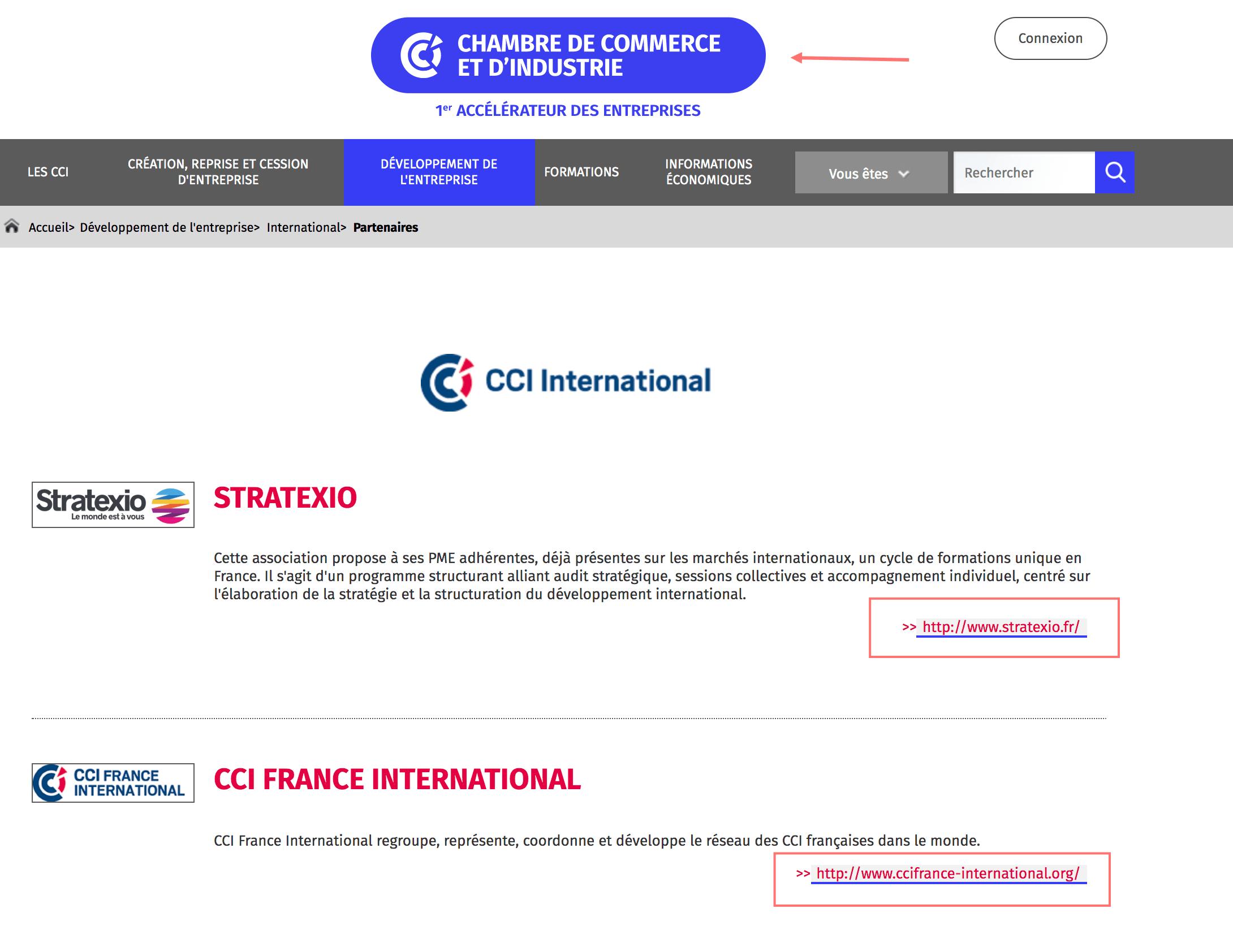 CCI Partenaires Référencement