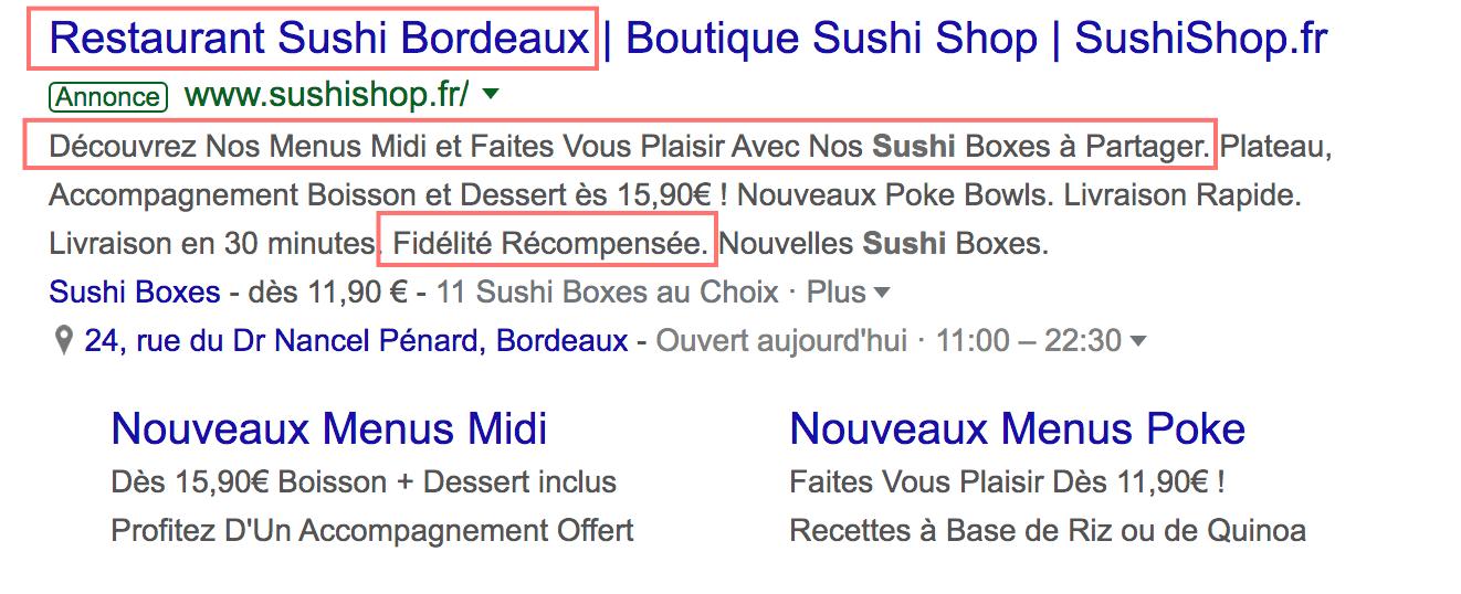 Google AdWords Référencement Local