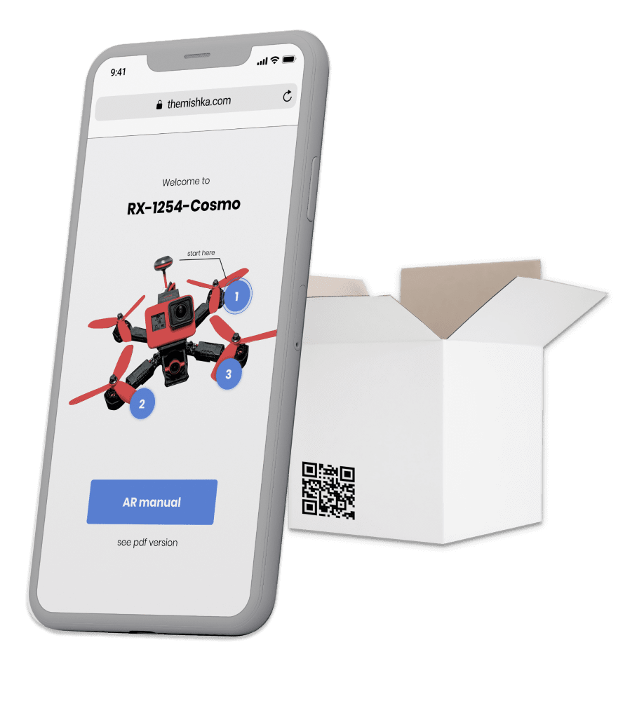 Augmented reality (AR) manual for drone