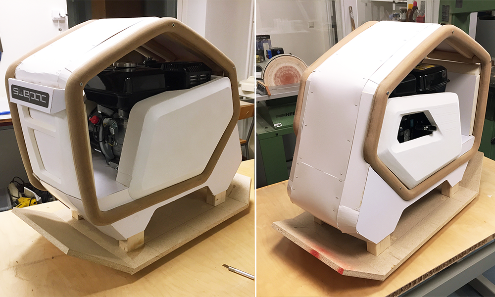 Mock up build of Swepac soil compactor