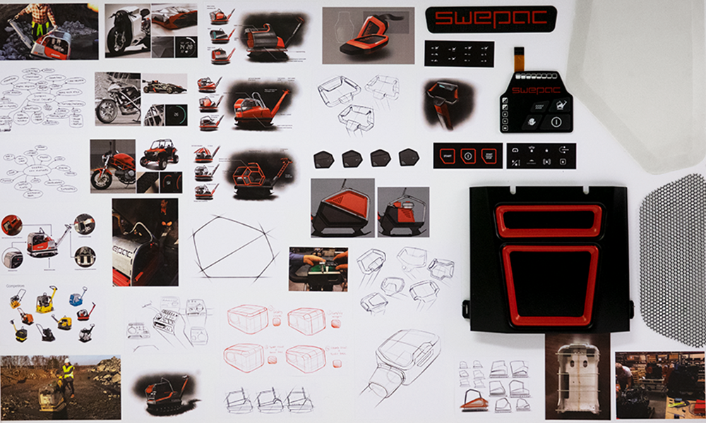 Collage of Swepac design process