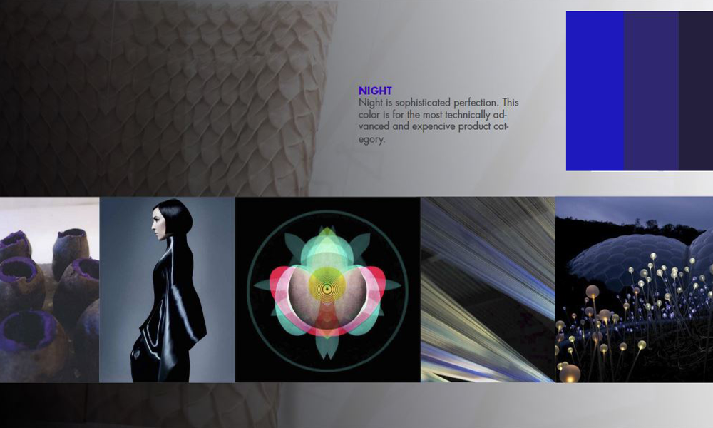 Color moodboard for PFAFF Creative Icon design project