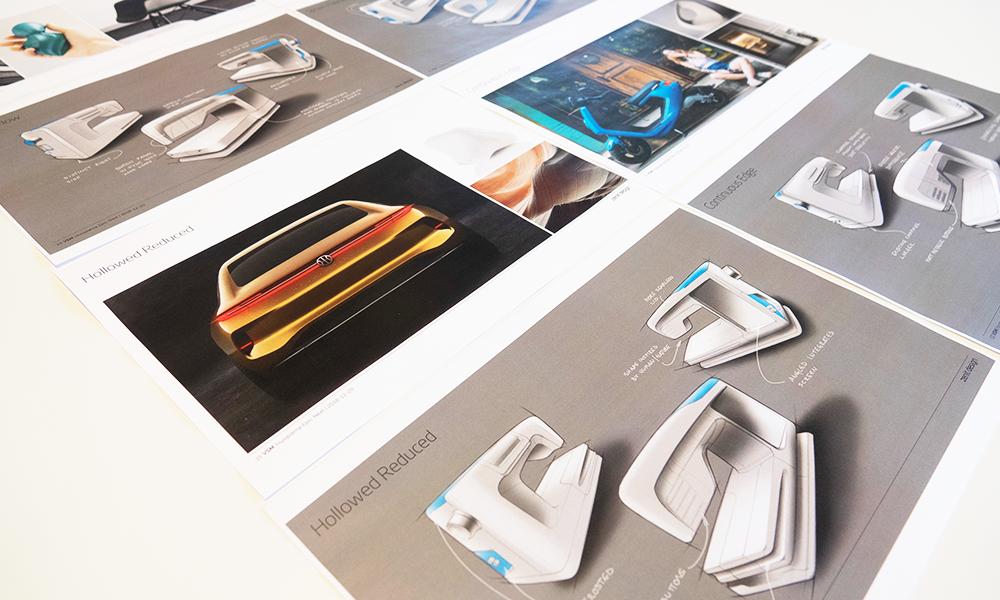 Collage of design sketches for Designer Epic 2