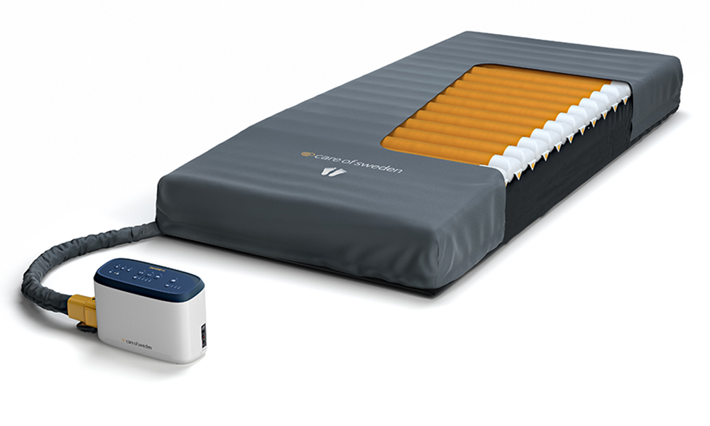 Care Of Sweden medical mattress with attached Pump