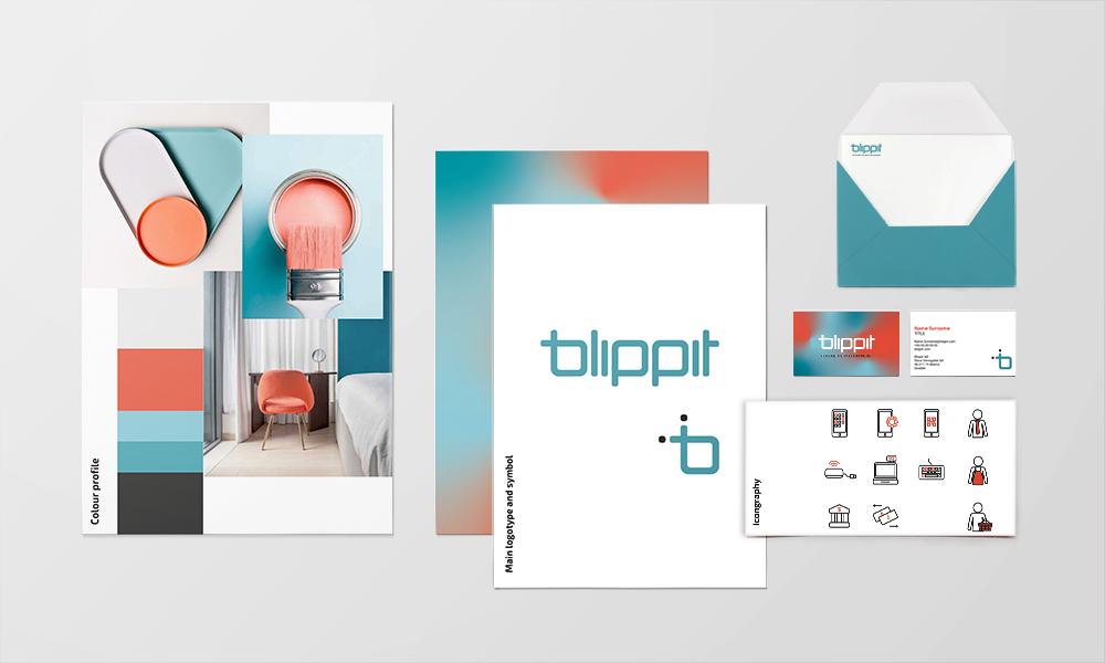 Blippit Design process collage