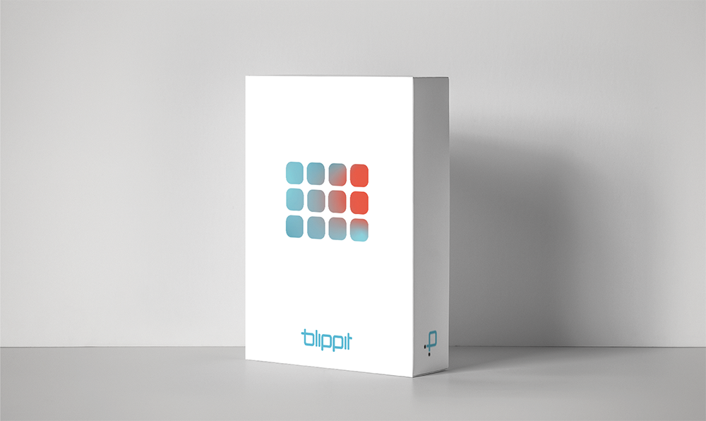 Blippit Packaging display