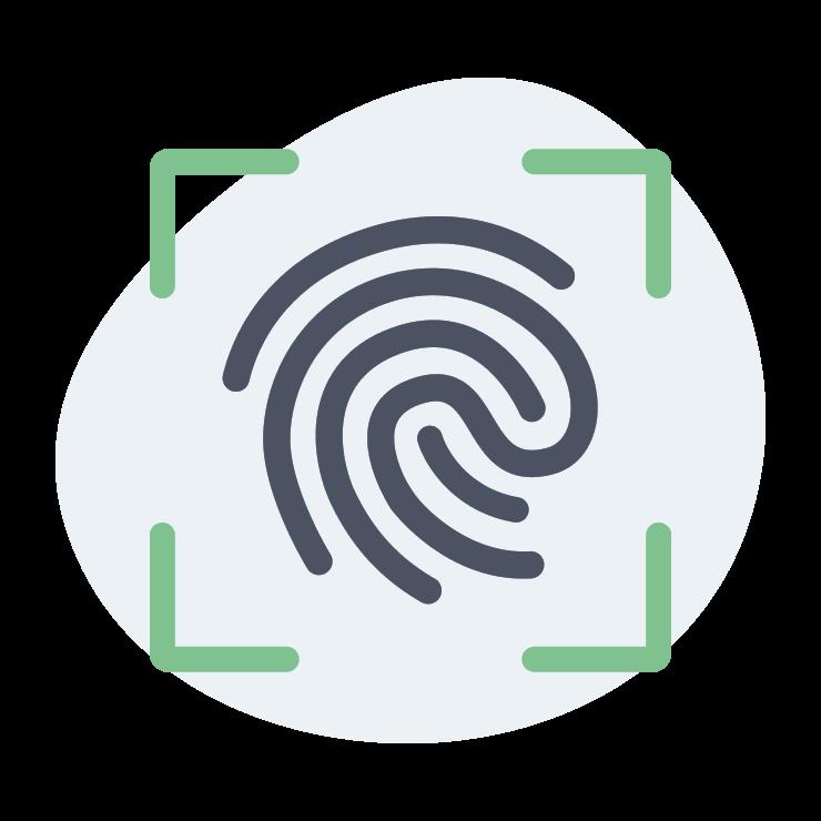 mit Fingerabdruck sichern