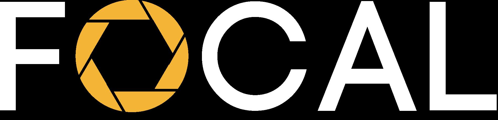 Focal white logo bookfocal
