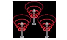 Ilustração isométrica de sinais de transmissão