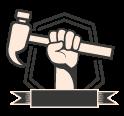 ícone vidros, martelinho e reparo