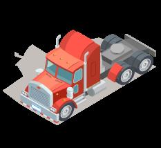 caminhão isométrico