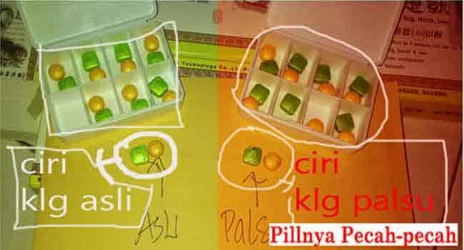 KLG Asli Pills Usa Original - Ciri Ciri Obat KLG Asli Dan Palsu
