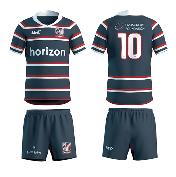 Beasties Playing Kit: Navy, red & white Easts Junior Beasties rugby jersey (supplied before game 1), Navy Easts Junior Beasties shorts (the same ones you wear to training), Navy & white socks (the same as what you wear to training), Rugby boots (no metal studs to be worn on Oval 1).