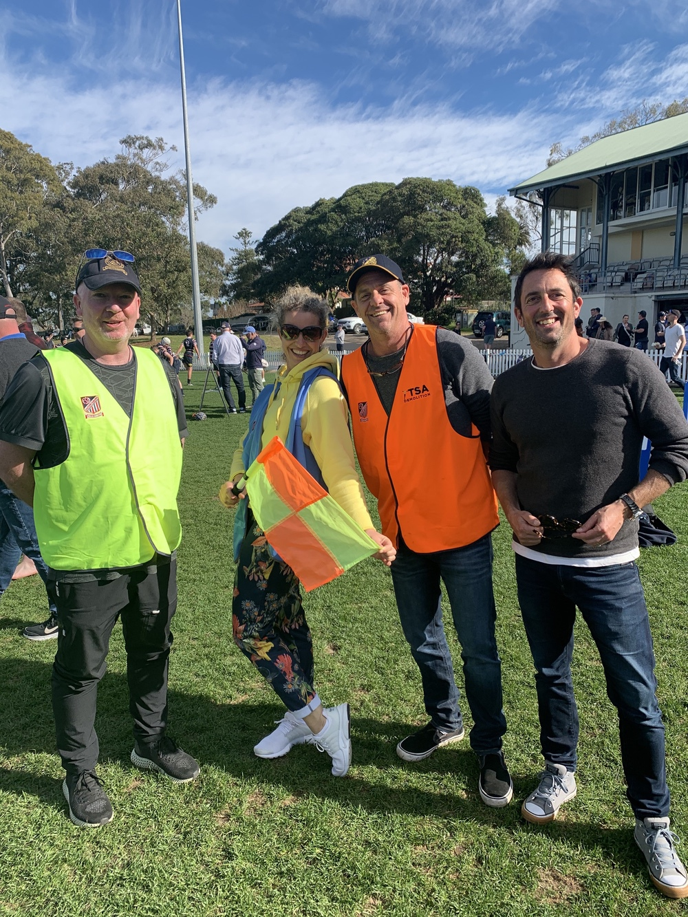 Some of our volunteers at a game at Rawson Oval.