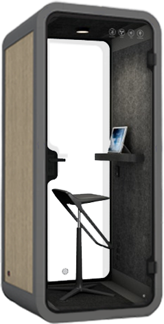 PEACEPOD phone booth with stool