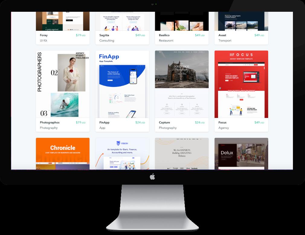 Beeldscherm desktop met diverse websites erop te zien