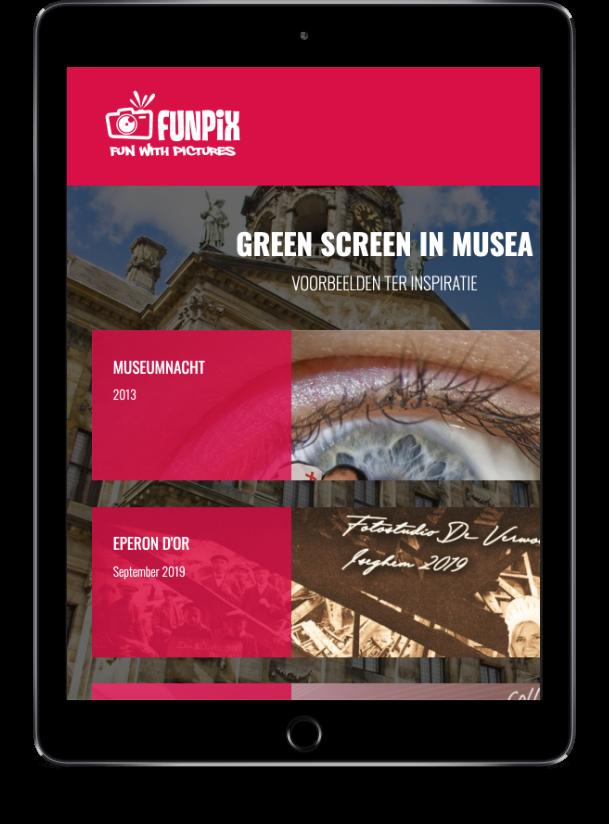 Tablet met pagina website Funpix