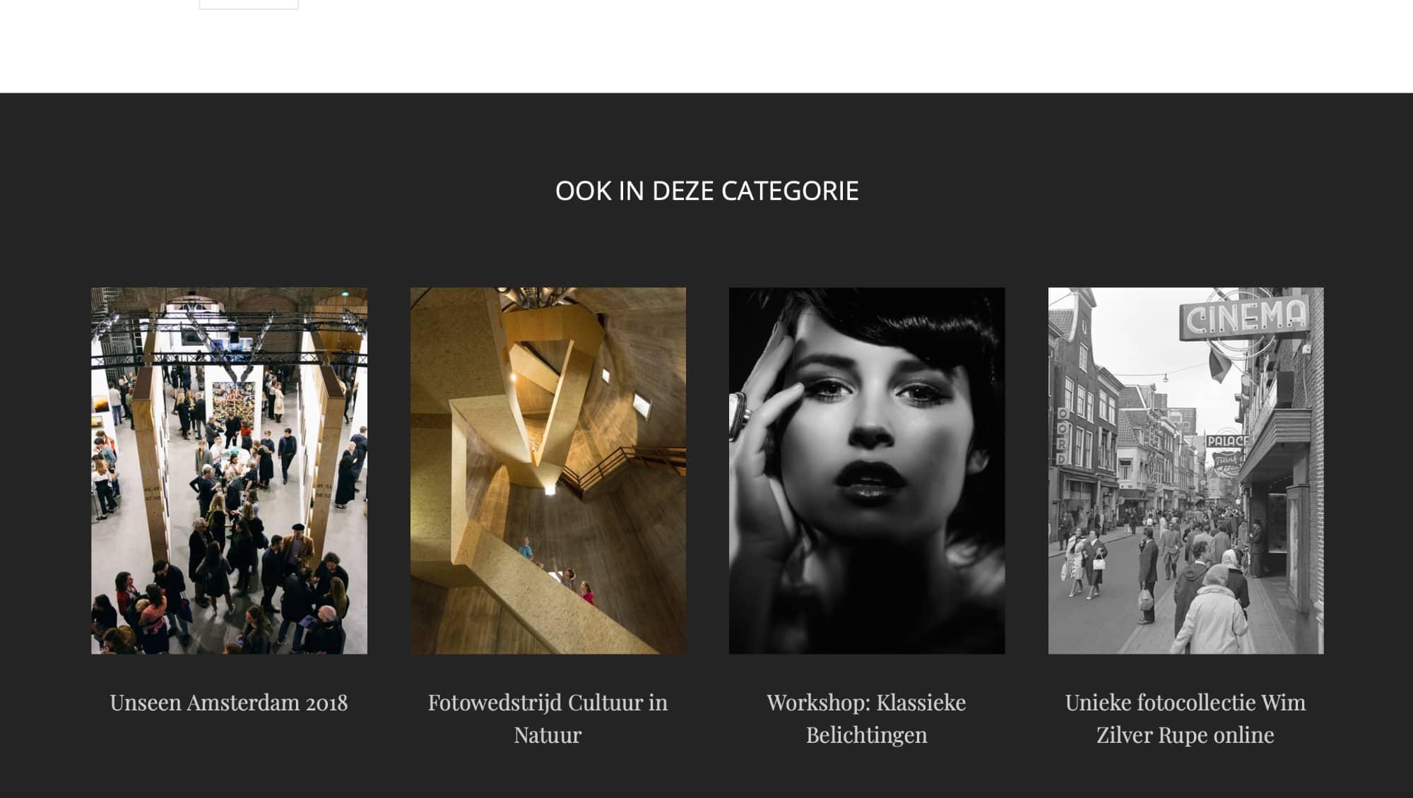 Blogpagina van website van Fotografie.nl