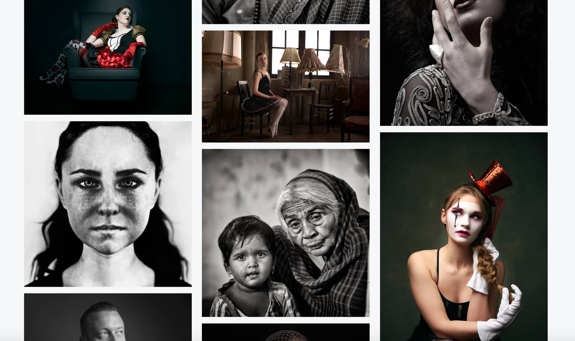 Pagina van website van Fotogalerie.nl