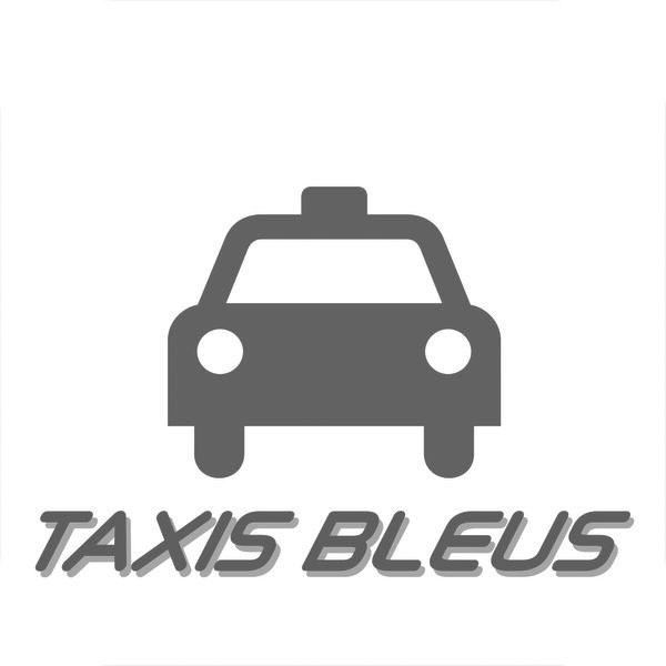 Logo gris Taxis Bleus